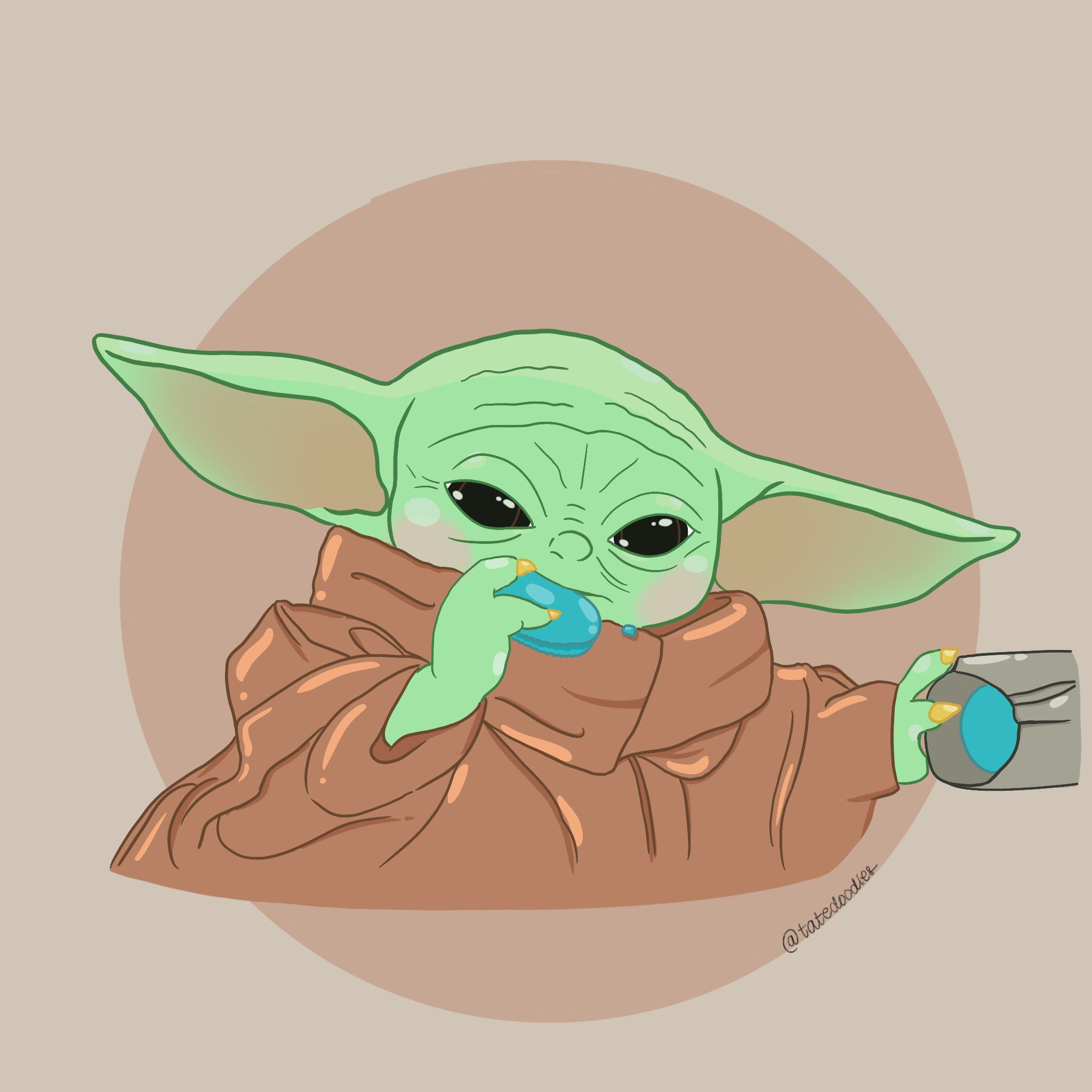 The Cutest Cookie Thief In The Galaxy R Babyyoda Baby Yoda Grogu Know Your Meme He is a toddler member of the same unnamed alien species as the star wars characters yoda and yaddle. baby yoda grogu
