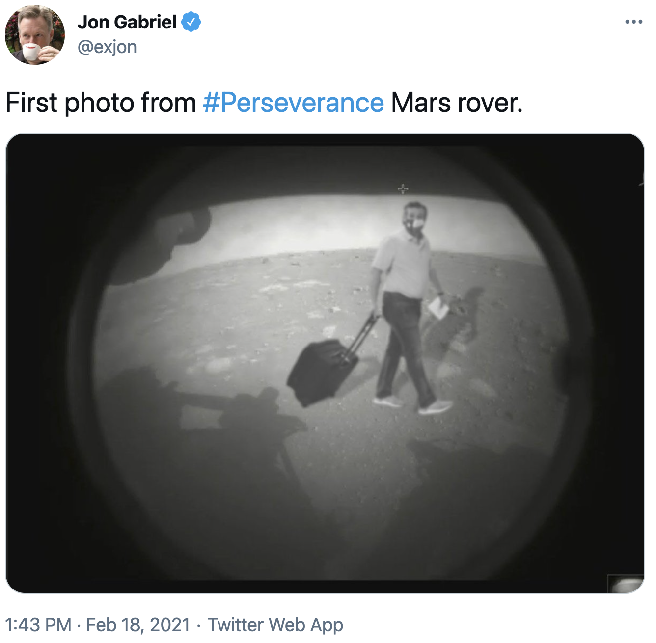 First Photo From Perseverance Mars Rover Ted Cruz S 2021 Cancun Vacation Know Your Meme